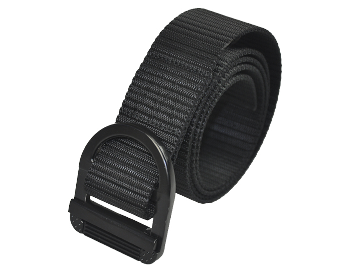 black military trainer belt with ny