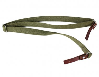 AK47 SKS Rifle Canvas Leather Sling